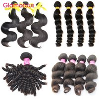 Glamorous Natural Hair Extensions 5pcs Virgin Human Hair Wefts Vente en gros Full cuticle Brazilian Malaysian Peruvian Indian Remy Hair Bundle