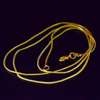 Wholesale 22 inch necklace for sale - Group buy 18K Gold Plated Snake Chain Necklace for Woman Lobster Clasps Smooth MM Chain Fashion Jewelry Size inch