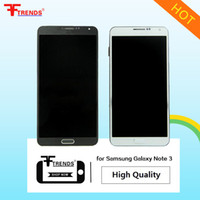 Wholesale Galaxy W Touch - High Quality A+++ for Samsung Galaxy Note 3 Original LCD Display and Touch Screen Digitizer No W Frame Full Assembly White Black Replacement