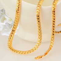 Wholesale Gold Chain Necklace New Model - Europe and the United States fashion new gold-plated snake necklace foreign trade burst male models 18K gold necklace jewelry