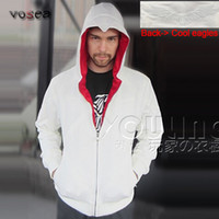 Wholesale Brand Factory Outlet Clothes - Wholesale-2016 Fashion Best Selling White Assassins Creed Hoodies Factory Outlet Brand Clothing Men Zipper Hoodie Cool Hooded Sweatshirt