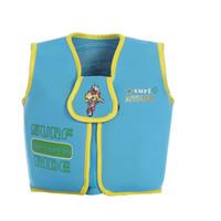 Wholesale Kids Swimwear Surf - Wholesale- 2016 Kids Swim Vest EPE Foam Neoprene Life Vest Boys Girls Blue Swimwear Swim Life Jacket for Beach Drifting Survival Jackets