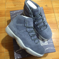 Wholesale Genuine Leather Best Basketball Shoes - with box Retro 11 PRM Grey Suede 1:1 Best Quality Wholesale Carbon fiber Really Air Retro 11s Suede Men Shoes Basketball Shoes