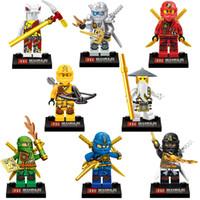 Wholesale Ninja Bricks - Phantom Ninja super hero minifigure building blocks bricks full set of puzzle toys boy gift