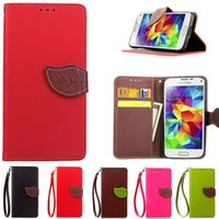 S5Mini Flip Stand Livre Style PU Cuir Rétro Impression Wallet Cover Case Pour Samsung Galaxy S5 mini Phone Case Sacs à cartes