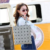 Wholesale Black Doctors Bag - 2017 fashion women bags changed Fold totes bags geometry Diamond lattice laser handbags single shoulder bag free shipping