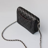 Wholesale Top Grade Handbags - top grade luxury old silver hardware flap handbag caviar mini flap shoulder bag genuine leather flap bag