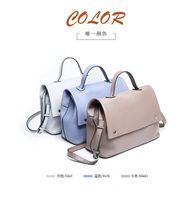 Wholesale Autumn Handbag - Autumn Korean All-match Simple Women Messenger Bag Real Leather Ladies Handbag Elegant Cover Flap Shoulder Bag