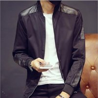 Wholesale Mens Green Color Leather Jackets - Fall-Mens Jacket Coat Brand-Clothing Winter PU Leather Jacket Men Thick Velvet Jaqueta Couro Winter Coat Jackets M-4XL Large Size