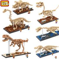 Wholesale Fossil Dinosaur - LOZ Mini Blocks Dinosaur DIY Building Bricks Fossil 3D Auction Figure Tyrannosaurus Rex Micro Blocks Kids toys Boys and girl Gifts 9023-9028