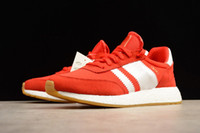Wholesale Vintage Womens Shoe Rubbers - Men Womens Retro Iniki Red Blue Runner Really Boost Sneaker Brand Unisex Vintage Running Shoes With Box 36-44
