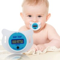 Wholesale Digital Lcd Soft Nipple Thermometer - Baby Nipple Thermometer Medical Silicone Pacifier LCD Digital Children's Thermometer Health Safety Care Thermometer For Children