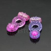 Wholesale Penis Delay Ring S - Wholesale- S-LOVE Hot Sale 1PC Clit Vibrating Cock Ring Stretchy Delay Penis Rings Sexy Toy For Male