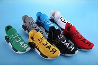 Wholesale Md Plastic - 2017 Human Race NMD Boost Red Black Yellow Lace Blue NMD Men Women Pharrell Williams X Human MD casual Shoes Sneakers 5-11