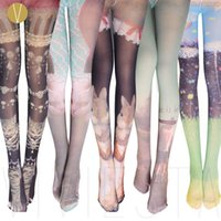 Wholesale Tights Girls Photos - Wholesale-PHOTO PRINT OPAQUE TIGHTS - 120D Women's Girls' Japan Tokyo Harajuku Street Fashion Style Animal Cat Rabbit Stockings Pantyhose
