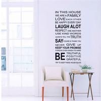 arte de pared de vinilo cita a la familia al por mayor-somos la familia Home Decor Love Art Quote Vinilo Decoración Extraíble Pegatinas de Pared Art Home Calcomanías Envío gratis