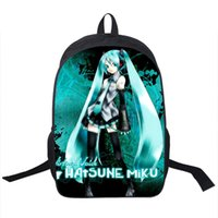 Wholesale Pink Miku - Wholesale- Hatsune Miku Backpack For Teenagers Girls Boys School Backpack Children Daily Backpacks Men Women Travel Bag Kids School Bags