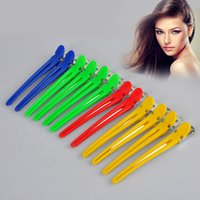 12pcs Hot Professional Hairstress Hairing Clips Clips Clamps Super Quality Salon Hair Grip pour outils de coiffage Aléatoire Couleur