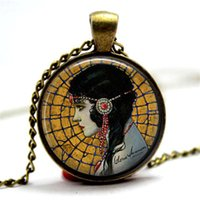 Wholesale Great Photo Gifts - 10pcs lot Gloria Swanson by Henry Clive - Flapper Jewelry - Great Gatsby Pendant Glass Photo Cabochon Necklace