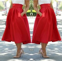 Wholesale Fashion Trends Skirts - 2017 Best Sellers New Pattern Gules Sexy Fashion Trend Waist Half-body Skirt