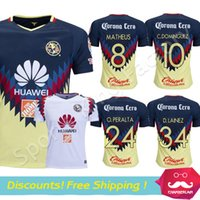 f2cc7ffea Club America Aguilas 2018 camiseta de futbol Mexican League soccer jersey  thai quality 17 18 white Mexico american club football shirts ...