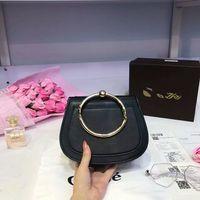 Wholesale sky saddle - famous brand 2017 Hot Sale Medium Nile Bracelet Ring Circle Hoof Strap Corssbody Flap Bag Nine Colors woman brand bags handbag