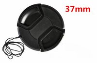 Wholesale 37mm cap - Wholesale- free shipping 37mm center pinch Snap-on cap cover for 37mm camera Lens