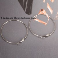 35 / 50mm Rion Platinum Plated Earring Hoops Wine Glass Charm Rings Big Round Loop Circle Ear Hook jóias Findings Wire Component