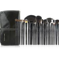 conjunto de ferramentas de couro venda por atacado-Atacado-Nova Chegada 32pcs Preto Cosmetic Brush Kit Ferramenta Professional Makeup Brushes Set Com PU Leather Case
