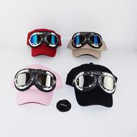 Wholesale Snapback Hat Glass - Wholesale- 2017 Fashion Adult's Hip Hop Baseball Cap Summer men's Sun Hat Cartoon Large glasses pilot women Girls snapback Caps