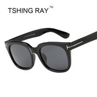 Wholesale Super Polarized Sunglasses - New Polarizing Fashion Super Star Square Sunglasses Brand Men Women Celebrity James Bond Sun Glasses UV400 Male Female Retro Goggle