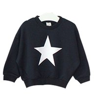 Wholesale Wholesale Clothing South Korea - Wholesale- Children's Clothing 2016 Autumn Fashion South Korea boys girls stars Pattern Jumper Baby kids Sweaters cotton fleece shirt