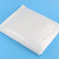 Venta al por mayor-10 Pcs / Pack, 260 * 300mm de plástico blanco Poly Bubble envoltorio Mailer Mailing