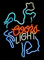 "Wholesale Neon Rider - Coors Light Horse Rider Riding Neon Sign Custom Handmade Real Glass Tube Home Motel Decoration Wall Art Gift Display Neon Signs 14""X17"""