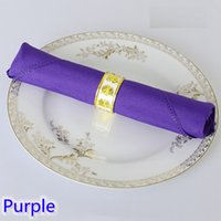 Wholesale Purple Polyester Napkins - Purple colour Table napkin plain polyester napkin for wedding hotel restaurant party table decoration wrinkle stain resistant