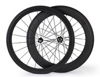 Wholesale front mm rear mm T800 carbon fiber road bike wheels with Novatec or Powerway hub