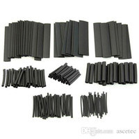 Wholesale Heat Shrink Tube pc Black Assortment Wire Wrap Electrical Insulation Sleeving Sizes Assortment Heat Shrinkable