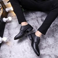 Wholesale Men S Pointed Shoes - Autumn new men 's suits leather shoes leather low to help single shoes simple pointed lace