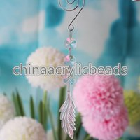 Wholesale Prism Sun - Wholesale 10 Pcs Set Acrylic Crystal Chandelier Prism Drops Hanging Crystal Sun Catcher String Beads Wedding Party Centerpiece Docor