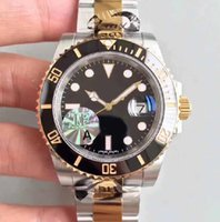 Wholesale Eta Swiss Date - Mens V7 Top JF Factory 18k Gold & Steel 40mm 116613 Date Ceramic Swiss ETA 3135 Movement Automatic Mens Watch 116613LN Diving swim Watches.