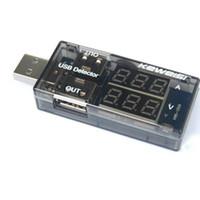 usb güç kaynağı voltajı toptan satış-USB Dedektörü USB Test Cihazı Gerilim Akım Test Cihazı Çift USB LCD Ekran Güç Bankası Güç Tester Kaynağı Cihazları Pil Doktor KEWEISI KWS-10VA