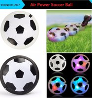 Wholesale Disc Balls - New Arrival 60 pieces football Colorful Air Powered Soccer Disc Indoor Football Toy Multi-surface HOVER BALL and Gliding Toy M0756
