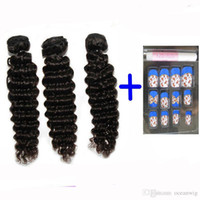 Wholesale Hair Extension Free Sample - Brazilian Cambodian Chinese Virgin Hair Weave Wavy Deep Wave Virgin Human Hair Weft Extension Dyeable buy a lot get free samples Quercy Hair