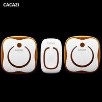 Wholesale Wireless Doorbell Waterproof Button - CACAZI 36 Ringtones AC 110-240V 280M remote control 1 transmitter 2 receivers waterproof button elderly pager wireless doorbell