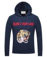 Wholesale Tiger Hooded Coat - Promoted Hooded Tiger Men Hip Hop Hoodies Blind For Love Jumper Sweatshirt Mens Hoodies Sweatshirts Women Sports Jackets Coats XXXL