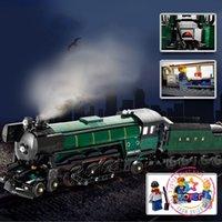 Wholesale Educational Train Toys - Lepin 21005 Emerald Night Train Building Bricks Blocks New year Gift Toys for Children Boy educational 10194