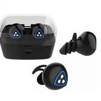 Wholesale Mini Ear Bluetooth Headset - New Syllable D900 Mini Twins Double-ear Wireless Bluetooth Earphone Stereo Music Sports Headset Handsfree Auriculares Binaural Charge