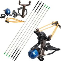 Wholesale Hunting Slingshot Arrow - Fishing Reel Slingshot Archery Slingbow Hunting Catapult Bracket Arrow Rest Brush Functional Terminal Shooting Slingshot with Fishing Arrows