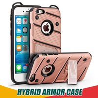 Wholesale Huawei Mate Tpu - Hybrid For Samsung S8 Plus Armor Case Soft TPU PC Kickstand Shell Shockproof Cases Cover For iPhone 6 6s 7 8 plus 5 5s Huawei Mate 9 Pro