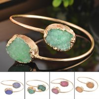 Wholesale Snake Eggs - Wholesale- Egg-Shaped Double Crystal Bud Bracelets Multicolor NEW Arrival Fine Jewelry For Women 1PC 22.5cm 1.5cmx2cm